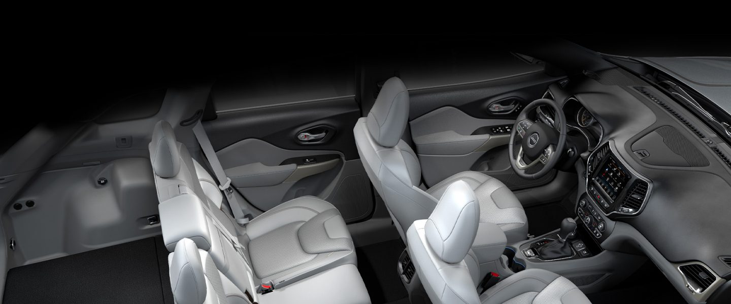 Available Nappa leather-trimmed seats on the 2020 Jeep Cherokee.