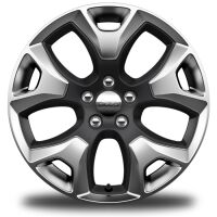 18-Inch x 7-Inch Polished Gray Pocket Aluminum Wheels