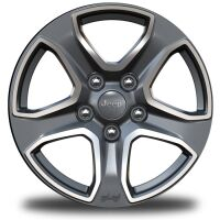 17-Inch x 7.5-Inch Polished Granite Crystal Wheels